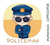 illustration of cartoon... | Shutterstock .eps vector #1299222928