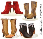 woman boot  set of woman boots...