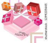 valentine's day  gift  greeting ... | Shutterstock .eps vector #1299235645