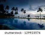 Sunrise at Thailand paradise - stock photo