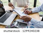 two business team manager... | Shutterstock . vector #1299240238