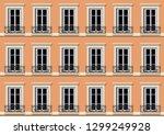 urban concept  with a facade of ... | Shutterstock .eps vector #1299249928