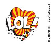 abbreviation lol  laugh out... | Shutterstock .eps vector #1299252205