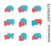 vector dialog speech bubbles ... | Shutterstock .eps vector #1299255175