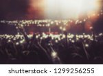 blurred background with concert ... | Shutterstock . vector #1299256255