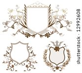 shield design set with various... | Shutterstock .eps vector #12992608