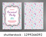 concept of a two sided carnival ... | Shutterstock .eps vector #1299266092