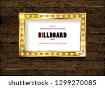 bright gold marquee with light... | Shutterstock .eps vector #1299270085