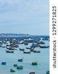 multiple vessels on the sea ... | Shutterstock . vector #1299271825