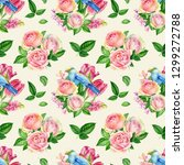 Seamless Pattern Of Flowers...