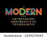 vector of stylized modern font... | Shutterstock .eps vector #1299273445