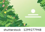 vector landing page design with ... | Shutterstock .eps vector #1299277948