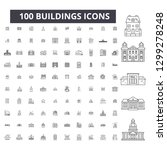 buildings editable line icons ... | Shutterstock .eps vector #1299278248