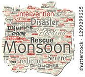 vector conceptual monsoon... | Shutterstock .eps vector #1299299335