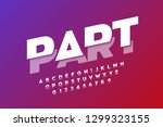 modern font design  sliced... | Shutterstock .eps vector #1299323155