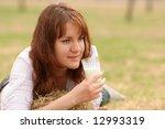 the girl in a morning drinks... | Shutterstock . vector #12993319
