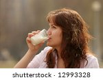 the girl in a morning drinks... | Shutterstock . vector #12993328