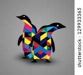 penguin design   eps10 vector | Shutterstock .eps vector #129933365