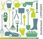Garden set  icons - stock vector