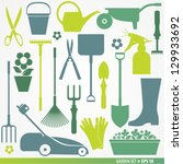 garden set  icons | Shutterstock .eps vector #129933692