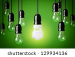 energy saving and simple light... | Shutterstock . vector #129934136