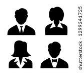 men and women avatar profile... | Shutterstock .eps vector #1299341725
