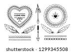 set of ethnic decorative... | Shutterstock .eps vector #1299345508