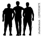 black silhouette three men... | Shutterstock .eps vector #1299353875