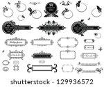 vintage floral frames and title ... | Shutterstock .eps vector #129936572