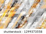 seamless urban geometric grunge ... | Shutterstock .eps vector #1299373558
