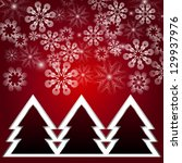 a red background for christmas... | Shutterstock .eps vector #129937976
