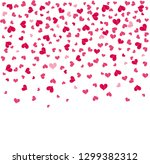falling hearts on a transparent ... | Shutterstock .eps vector #1299382312