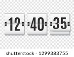 countdown timer with numbers... | Shutterstock .eps vector #1299383755