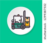 flat color icon forklift....