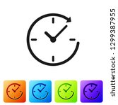 grey clock with arrow icon... | Shutterstock .eps vector #1299387955