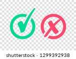 set of green check mark icon... | Shutterstock .eps vector #1299392938