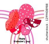 valentine's day  mug  lock ... | Shutterstock .eps vector #1299408988