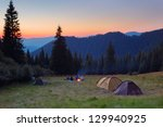 evening by the fire in the... | Shutterstock . vector #129940925