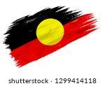 brush painted australian...   Shutterstock . vector #1299414118