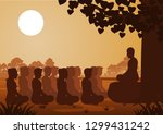 buddhist women and men pay... | Shutterstock .eps vector #1299431242