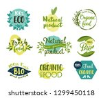 set of isolated stickers for... | Shutterstock .eps vector #1299450118