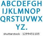 electric neon alphabet  | Shutterstock . vector #1299451105