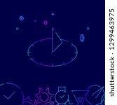 sundial vector line icon....