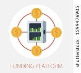 vector illustration of funding...   Shutterstock .eps vector #1299476905