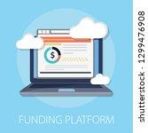 vector illustration of funding... | Shutterstock .eps vector #1299476908