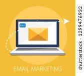 vector illustration of email... | Shutterstock .eps vector #1299476932