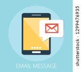 vector illustration of email... | Shutterstock .eps vector #1299476935