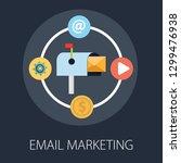 vector illustration of email... | Shutterstock .eps vector #1299476938