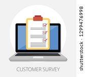 vector illustration of customer ... | Shutterstock .eps vector #1299476998