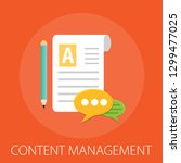 content management   digital... | Shutterstock .eps vector #1299477025